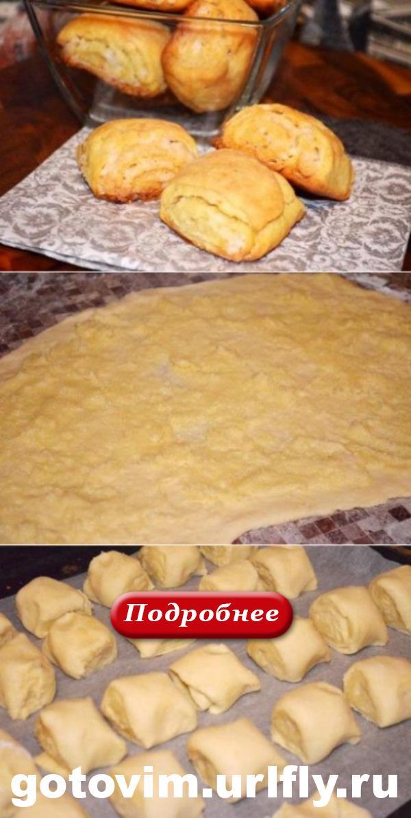 Нежное и мягкое как бархат! Вкусное бездрожжевое пышное печенье!
